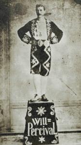 Will Percival, Clog Dancer standing on a pedestal
